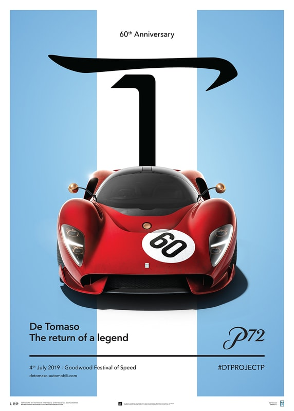 De Tomaso Project P - Front view - 2019 - Poster