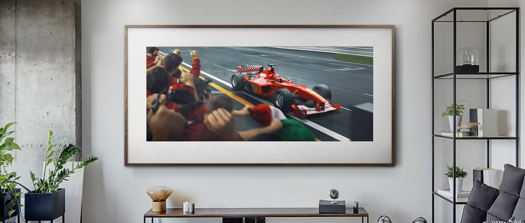 Automobilist is honoring Michael Schumacher's 50th birthday with unique Ferrari artworks