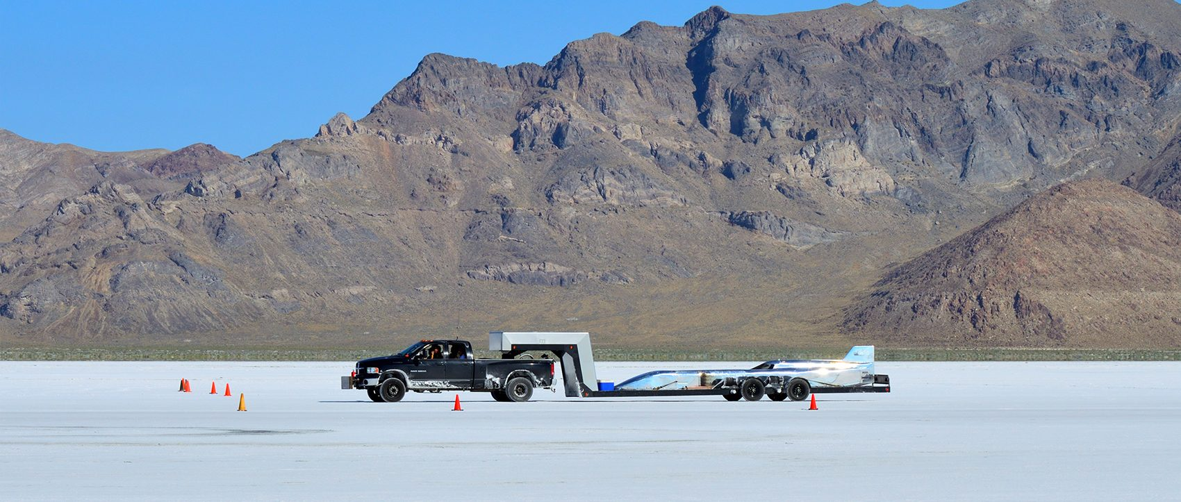 Flat out on the Salt Flats