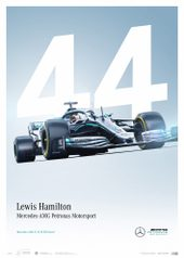 MERCEDES-AMG PETRONAS MOTORSPORT - LEWIS HAMILTON - LIMITED EDITION - POSTERS