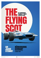 MATRA MS80 - SIR JACKIE STEWART - THE FLYING SCOT - NÜRBURGRING GP - 1969 - POSTER - DESIGN POSTERS