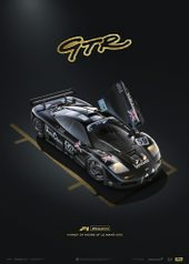 MCLAREN F1 GTR - 24H LE MANS - UNIQUE & LIMITED EDITION POSTER - COLLECTOR'S EDITION