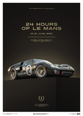 FORD GT40 - BLACK - 24H LE MANS - 1966 - U&L EDITION POSTER - UNIQUE & LIMITED POSTERS