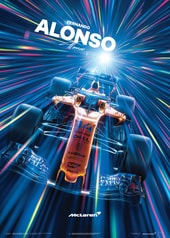 MCLAREN  - FERNANDO ALONSO - ABU DHABI - 2018 - U&L EDITION POSTER - UNIQUE & LIMITED POSTERS