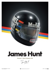 JAMES HUNT  - HELMET - 1976 - POSTER - DESIGN POSTERS