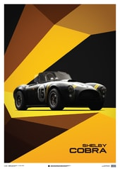 SHELBY-FORD AC COBRA MK II - BLACK - 1962 - LIMITED POSTER - DESIGN POSTERS