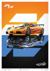 MCLAREN F1 LM / GTR - POSTER - UNLIMITED EDITION