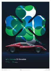 ALFA ROMEO 33 STRADALE - RED - 1967 - POSTER - UNLIMITED EDITION