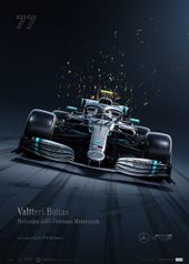 MERCEDES-AMG PETRONAS MOTORSPORT - VALTTERI BOTTAS - COLLECTOR'S EDITION - UNIQUE & LIMITED POSTERS