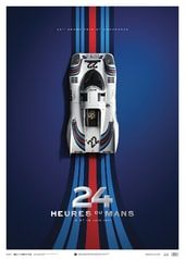 PORSCHE 917 - MARTINI - 24H LE MANS - 1971 - UNIQUE & LIMITED EDITION POSTER - COLLECTOR'S EDITION