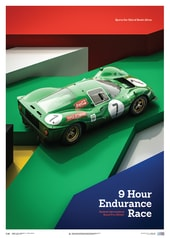 FERRARI 412P - GREEN - KYALAMI 9 HOUR - 1967 - LIMITED POSTER - DESIGN POSTERS