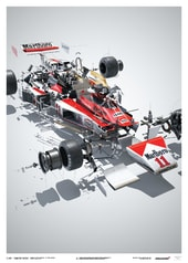 MCLAREN M23 - JAMES HUNT - JAPANESE GP - 1976 - U&L EDITION POSTER - UNIQUE & LIMITED POSTERS
