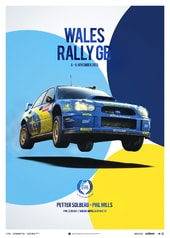 SUBARU IMPREZA WRC 2003 - PETTER SOLBERG - WALES RALLY GB - UNIQUE & LIMITED EDITION POSTER - UNIQUE & LIMITED POSTERS