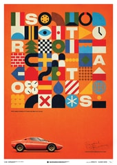 LANCIA STRATOS HF PROTOTYPE - ORANGE - 1971 - U&L EDITION POSTER - UNIQUE & LIMITED POSTERS