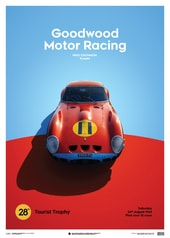FERRARI 250 GTO - RED - GOODWOOD TT - 1963 - LIMITED POSTER - DESIGN POSTERS