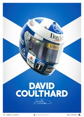 DAVID COULTHARD - HELMET - 2000 - POSTER - DESIGN POSTERS