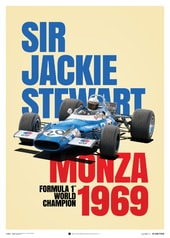 MATRA MS80 - SIR JACKIE STEWART - MONZA VICTORY - 1969 - POSTER - UNLIMITED EDITION