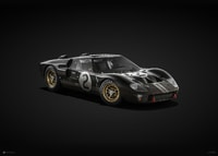 FORD GT40 - BLACK - 24H LE MANS - 1966 - COLORS OF SPEED POSTER - UNLIMITED EDITION