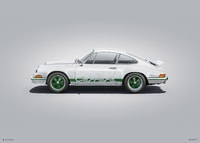 PORSCHE 911 RS - WHITE - COLORS OF SPEED POSTER - COLORS OF SPEED POSTERS
