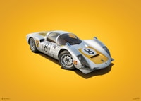 PORSCHE 906 - WHITE - JAPANESE GP - 1967 - COLORS OF SPEED POSTER - UNLIMITED EDITION