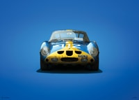 FERRARI 250 GTO - BLUE - TARGA FLORIO - 1964 - COLORS OF SPEED POSTER - UNLIMITED EDITION