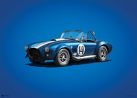 SHELBY-FORD AC COBRA MK III - BLUE - 1965 - COLORS OF SPEED POSTER - COLORS OF SPEED POSTERS