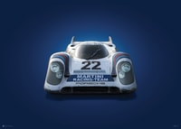 PORSCHE 917 - MARTINI - 24H LE MANS - 1971 - COLORS OF SPEED POSTER - UNLIMITED EDITION