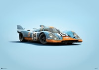 PORSCHE 917 - GULF - 24H LE MANS - 1971 - COLORS OF SPEED POSTER - UNLIMITED EDITION