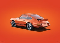 PORSCHE 911 RS - TANGERINE - COLORS OF SPEED POSTER - COLORS OF SPEED POSTERS