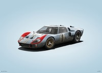 FORD GT40 - BLUE - 24H LE MANS - 1966 - COLORS OF SPEED POSTER - COLORS OF SPEED POSTERS