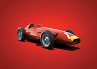 MASERATI 250F - JUAN MANUEL FANGIO - 1957 - COLORS OF SPEED POSTER - COLORS OF SPEED POSTERS