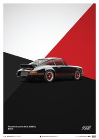 PORSCHE 911 RS - BLACK - LIMITED POSTER - LIMITED EDITION