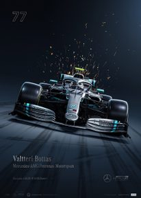 MERCEDES-AMG PETRONAS MOTORSPORT - 2019 - VALTTERI BOTTAS | COLLECTOR'S EDITION - F1 POSTERS