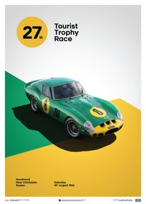 FERRARI 250 GTO - GREEN - GOODWOOD TT - 1962 - LIMITED POSTER - LIMITED EDITION