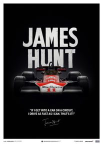MCLAREN M23 - JAMES HUNT - QUOTE - JAPANESE GP - 1976 - LIMITED POSTER - F1 POSTERS