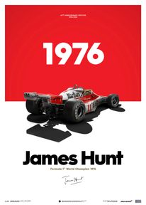 MCLAREN M23 - JAMES HUNT - MARLBORO - JAPANESE GP - 1976 - LIMITED POSTER - F1 POSTERS