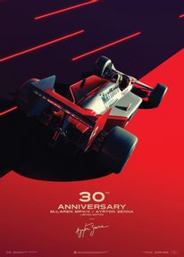 MCLAREN MP4/4 - AYRTON SENNA - SAN MARINO GP - 1988 | COLLECTOR'S EDITION - F1 POSTERS