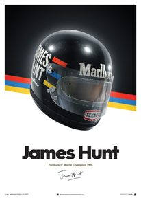 JAMES HUNT  - HELMET - 1976 - POSTER - F1 POSTERS