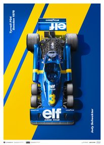 TYRRELL P34 - JODY SCHECKTER - SWEDISH GRAND PRIX - 1976 | LIMITED EDITION - F1 POSTERS