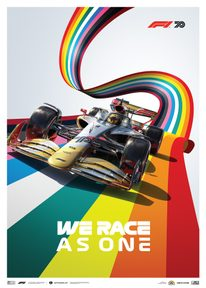 FORMULA 1® WE RACE AS ONE | FIGHT AGAINST COVID-19 AND INEQUALITY | LIMITED EDITION - F1 POSTERS