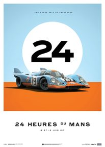 PORSCHE 917 - GULF - 24H LE MANS - 1971 - LIMITED POSTER - LIMITED EDITION