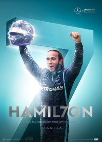 MERCEDES-AMG PETRONAS F1 TEAM - HAMIL7ON - F1® WORLD DRIVERS' CHAMPION 7TH TITLE | COLLECTOR'S EDITION - F1 POSTERS