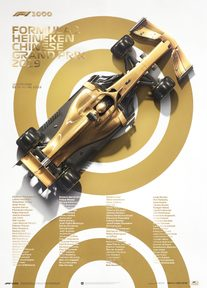 FORMULA 1® - 1000TH GRAND PRIX™ - GOLD - 2019 | COLLECTOR'S EDITION - F1 POSTERS