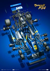 TYRRELL P34 - THE JOY OF SIX WHEELS | COLLECTOR'S EDITION - F1 POSTERS