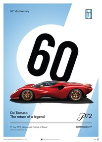 DE TOMASO PROJECT P - SIDE VIEW - 2019 - POSTER - UNLIMITED EDITION