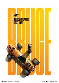 MCLAREN  PAPAYA - BRUCE MCLAREN SPECIAL - SPA-FRANCORCHAMPS CIRCUIT - 1968 | COLLECTOR'S EDITION - F1 POSTERS