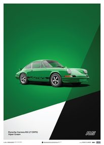 PORSCHE 911 RS - GREEN - LIMITED POSTER - LIMITED EDITION