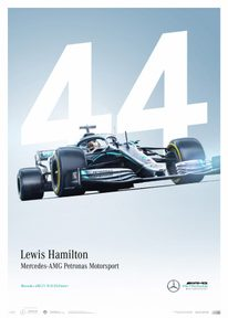 MERCEDES-AMG PETRONAS MOTORSPORT - 2019 - LEWIS HAMILTON - LIMITED EDITION - F1 POSTERS