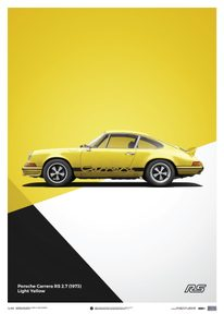 PORSCHE 911 RS - YELLOW - LIMITED POSTER - LIMITED EDITION