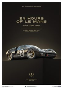 FORD GT40 - BLACK - 24H LE MANS - 1966 | COLLECTOR'S EDITION - COLLECTOR'S EDITION